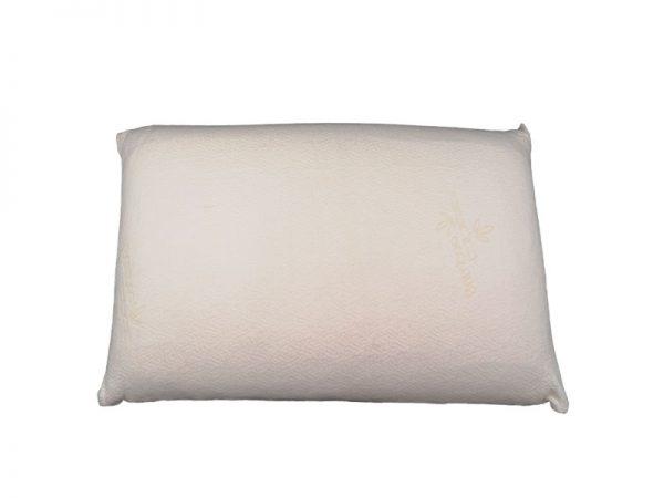 almofada de microfibra de cor branca