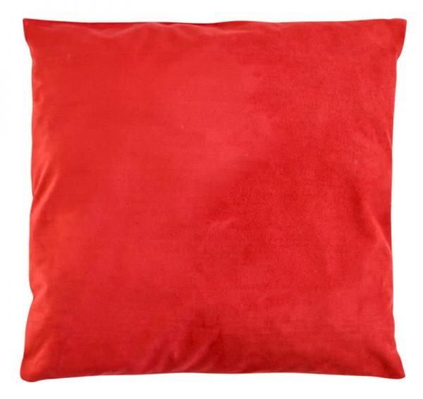 almofada de terciopelo de cor vermelha