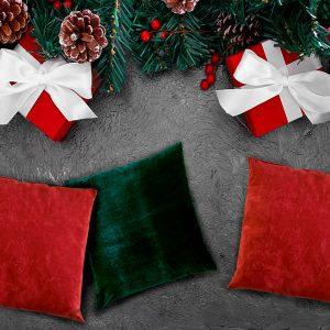 2 Almofadas Decorativas Natal 45x45cm